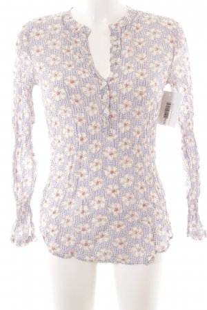 0039 Italy Long Sleeve Blouse flower pattern casual look