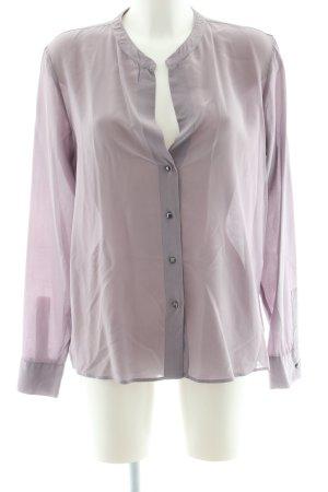 0039 Italy Langarm-Bluse pink-hellgrau Business-Look