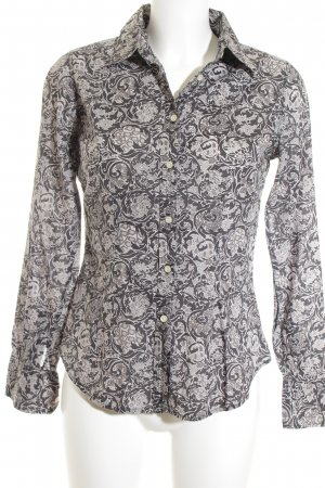 0039 Italy Langarm-Bluse florales Muster Casual-Look