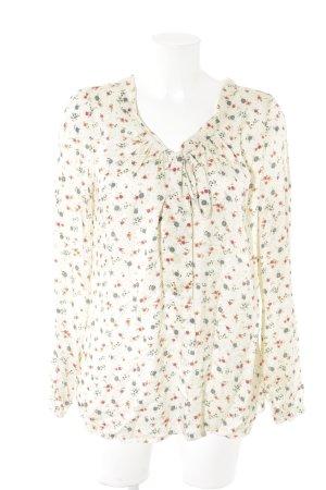 0039 Italy Langarm-Bluse florales Muster Romantik-Look