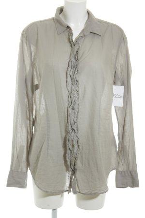 0039 Italy Langarm-Bluse graugrün Casual-Look