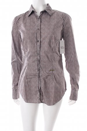 0039 Italy Long Sleeve Blouse light grey-brown spot pattern business style