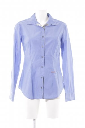 0039 Italy Long Sleeve Blouse azure casual look