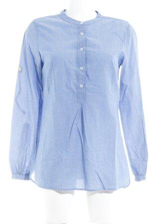 0039 Italy Langarm-Bluse kornblumenblau Casual-Look