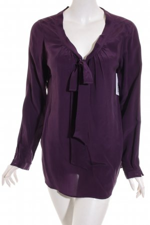 0039 Italy Langarm-Bluse lila Casual-Look