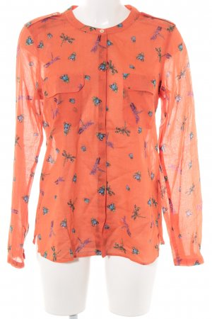 0039 Italy Long Sleeve Blouse themed print extravagant style