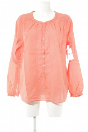 0039 Italy Long Sleeve Blouse neon orange casual look