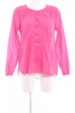 0039 Italy Langarm-Bluse neonpink Romantik-Look