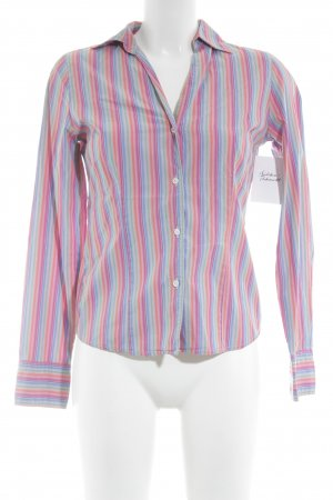 0039 Italy Long Sleeve Blouse striped pattern elegant