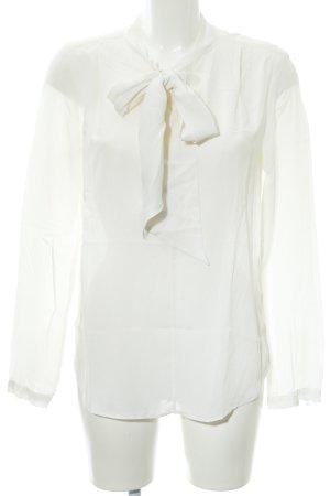 0039 Italy Langarm-Bluse wollweiß Elegant