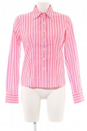 0039 Italy Long Sleeve Shirt pink-red striped pattern casual look