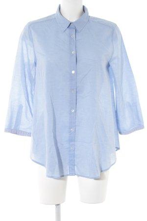 0039 Italy Langarmhemd kornblumenblau klassischer Stil