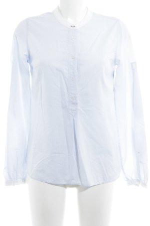 0039 Italy Langarmhemd weiß-blau Karomuster Business-Look