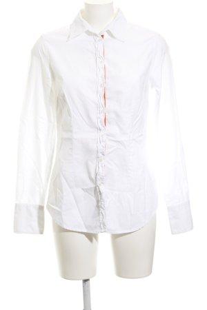 0039 Italy Chemise à manches longues blanc style décontracté