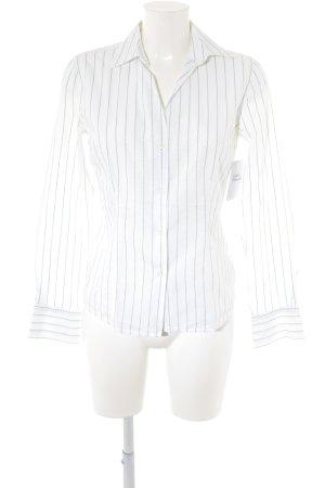 0039 Italy Camicia a maniche lunghe bianco-verde motivo trapuntato stile casual