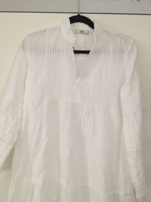 0039 Italy Tunic Dress white linen