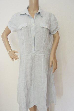 0039 Italy Robe à manches courtes bleu azur