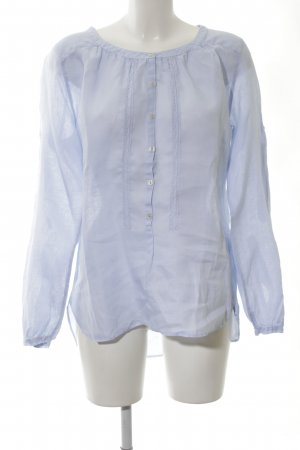 0039 Italy Linen Blouse neon blue casual look