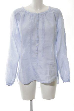 0039 Italy Blouse en lin bleu style décontracté