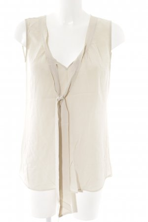 0039 Italy Long-Bluse nude-beige Business-Look