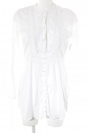 0039 Italy Long Blouse white elegant