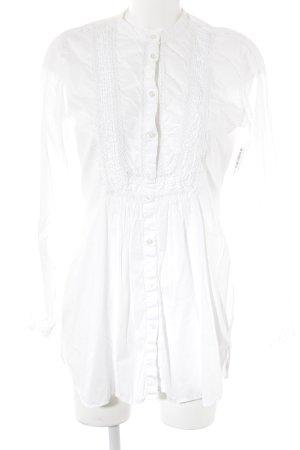 0039 Italy Long-Bluse weiß Elegant
