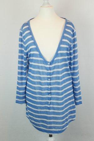 0039 Italy Longsleeve Ringelshirt Leinenshirt Gr. M blau weiß Streifen