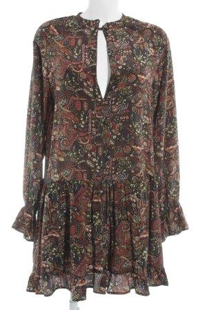 0039 Italy Midi-jurk bloemenprint casual uitstraling