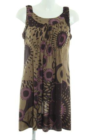 0039 Italy Minikleid florales Muster schlichter Stil