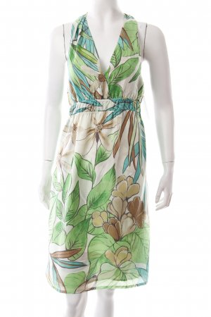 0039 Italy Halter Dress floral pattern