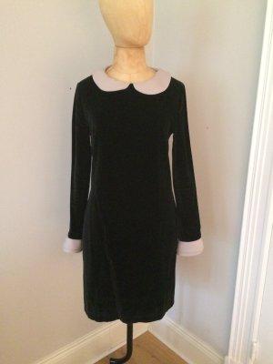 0039 Italy Samt Kleid Bubi Kragen Gr. 36 top