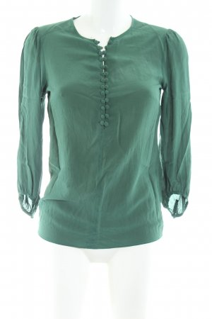 0039 Italy Schlupf-Bluse grün Business-Look