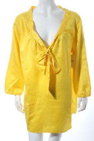 0039 Italy Schlupf-Bluse limettengelb klassischer Stil
