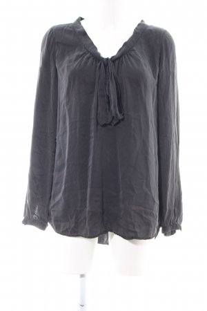 0039 Italy Tie-neck Blouse light grey casual look