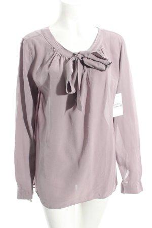 0039 Italy Schluppen-Bluse blasslila Eleganz-Look