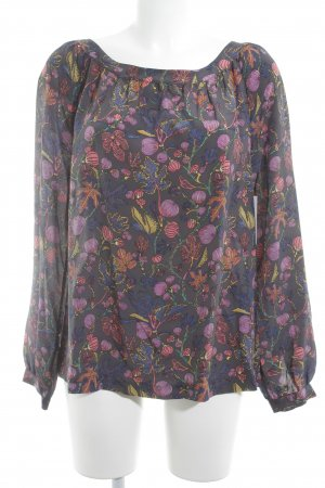 0039 Italy Tie-neck Blouse floral pattern business style