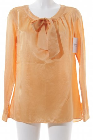 0039 Italy Tie-neck Blouse light orange elegant