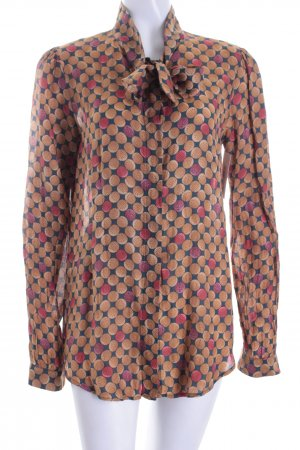 0039 Italy Tie-neck Blouse multicolored classic style