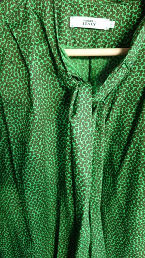 0039 Italy Blouse brown-grass green cotton
