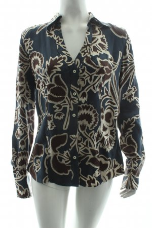 0039 Italy Silk Blouse abstract pattern casual look