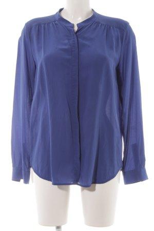 0039 Italy Seidenbluse blau Casual-Look