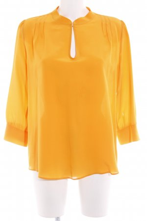 0039 Italy Seidenbluse hellorange Business-Look