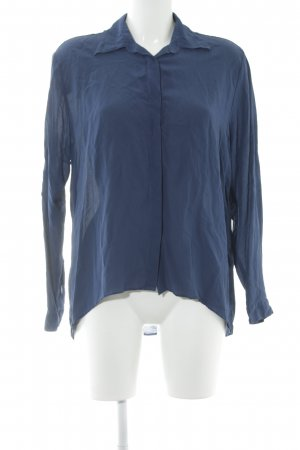 0039 Italy Silk Blouse steel blue casual look