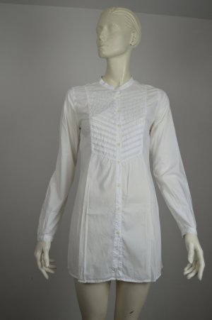 0039 Italy Sommerbluse weisse Bluse XS 34 S 36 Longbluse Strandkleid