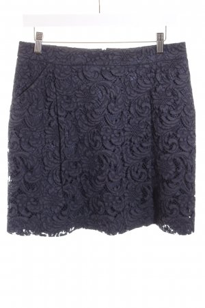 0039 Italy Lace Skirt dark blue lace look