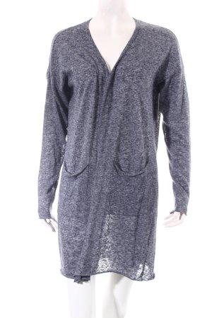 0039 Italy Strick Cardigan graublau-dunkelblau klassischer Stil