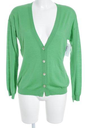 0039 Italy Strickjacke grün Casual-Look