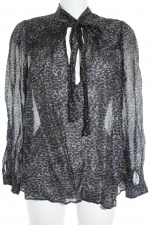 0039 Italy Transparenz-Bluse abstraktes Muster Casual-Look