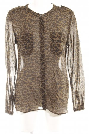0039 Italy Transparent Blouse leopard pattern animal print