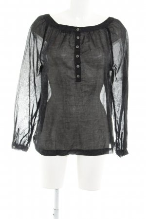 0039 Italy Transparent Blouse black-taupe leopard pattern simple style